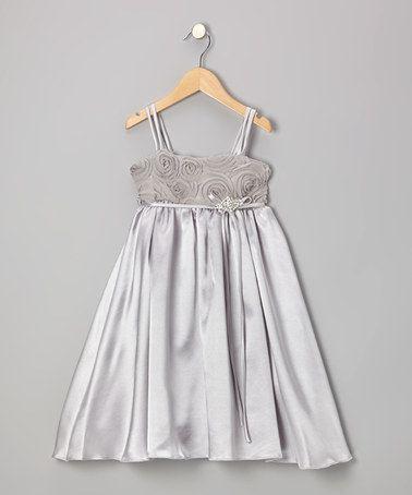 Vestido de Cetim Prata