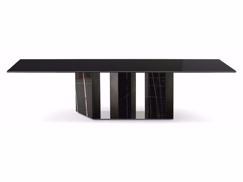 Rectangular Crystal Dining Table Platium By Gallotti Radice