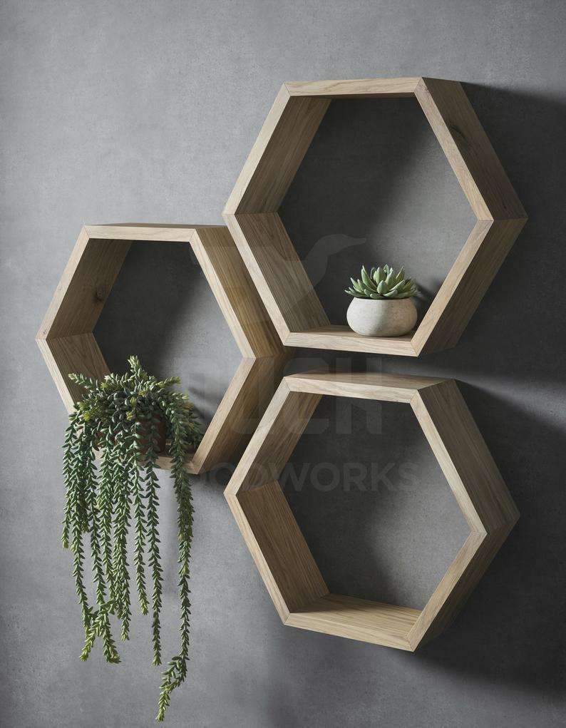 Plateau D Hexagone Une Etagere Hexagonale Etagere Geometrique