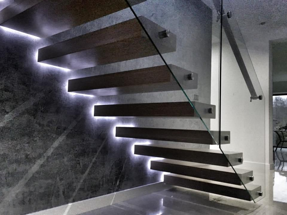 here is a creative way of using led strips to accent modern staircase this concept was done by. Black Bedroom Furniture Sets. Home Design Ideas