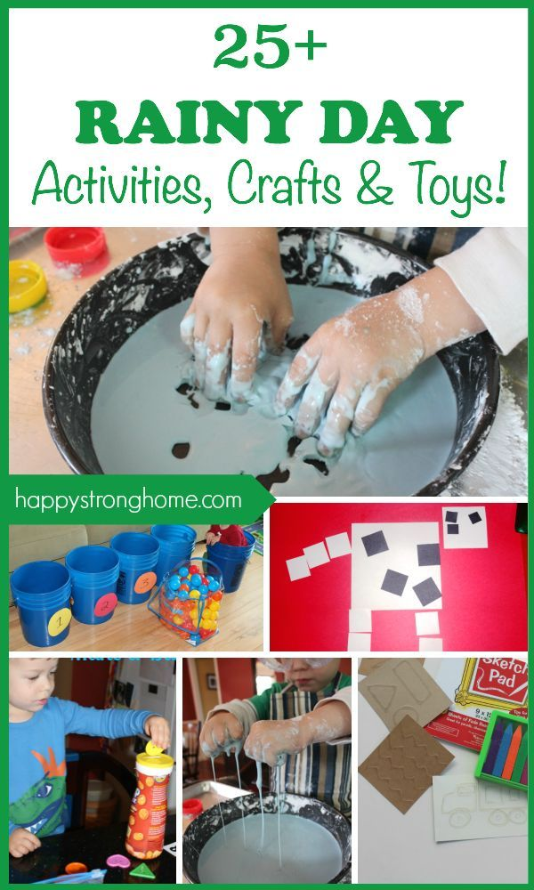 25+ Best Rainy Day Activities, Crafts, and Toys! #creativeartsfor2-3yearolds