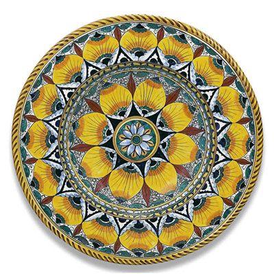 Toscana Round Platter Italian Ceramics Wall Plates Della Robbias Plates Deruta  sc 1 st  Pinterest & Toscana Round Platter Italian Ceramics Wall Plates Della Robbias ...