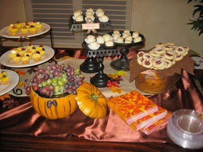 Fall Baby Shower Theme With Dessert Bar Fall Baby Shower