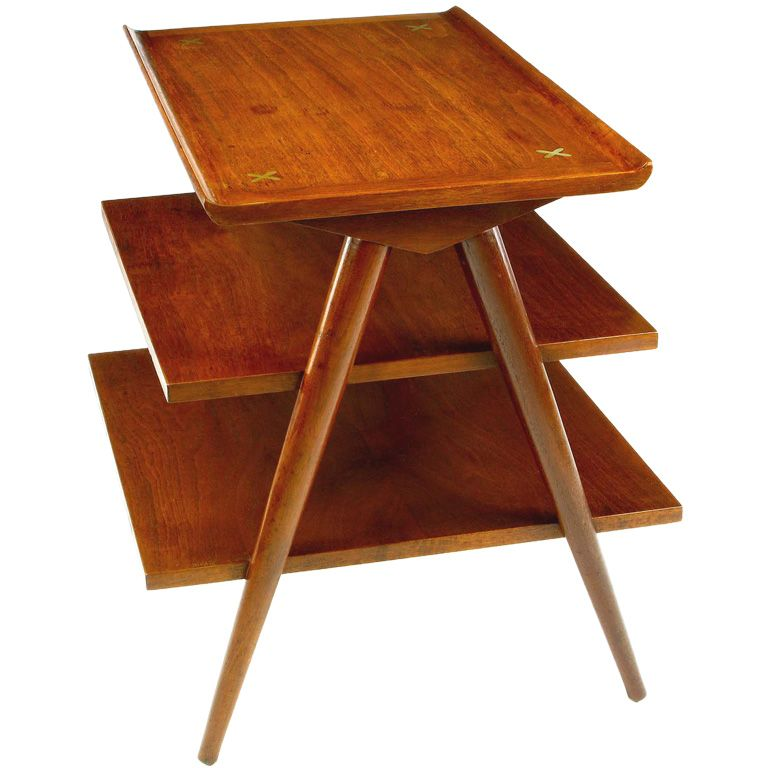 Three Tier Side Table By American Of Martinsville Mid Century Modern Furniture Mid Century Decor Modern Style Furniture