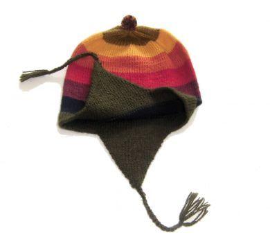 Bunte #Chullo #Mütze aus #Alpakawolle. Traditionell von unseren Strickerinnen in Cusco gestrickt. Durch die elastische Strickweise Einheitsgröße.
