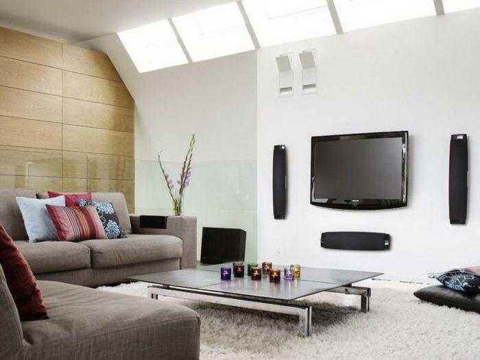 wunderschönes wohnzimmer - afrikanische deko - weiße wand - wohnzimmer ideen afrika