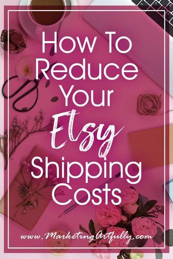 How To Reduce Your Etsy Shipping Costs.. All my best tips and ideas for reducing shipping costs. As an Etsy seller I know that one of the largest costs any etsy shop owner has. #etsyseller #etsyshop