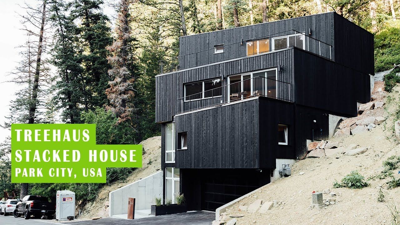 TREEHAUS: Incredible Stacked House in Park City, USA ... on stone house design, shaft house design, line house design, terrace house design, cantilever house design, bridge house design, envelope house design, hill house design, snout house design, shade house design, island house design, lake house design, tunnel house design, flat house design, delta house design, building house design, home modern house design, river house design, rock house design, wood house design,