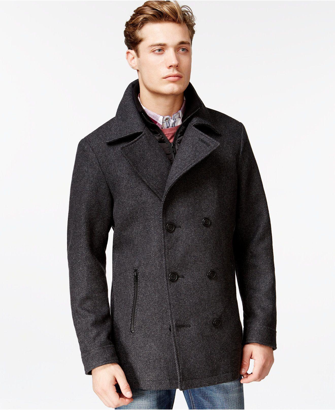 American Rag Twill Peacoat Coats Jackets Men Macy S Mens Fashion Coat Men Peacoat Outfit Peacoat [ 1616 x 1320 Pixel ]