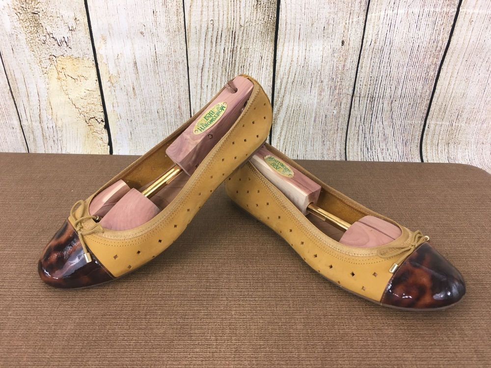 Clarks Indigo Tortoise Toe Leather Flats Stone Valley Women's Size 9M  B43(9) #