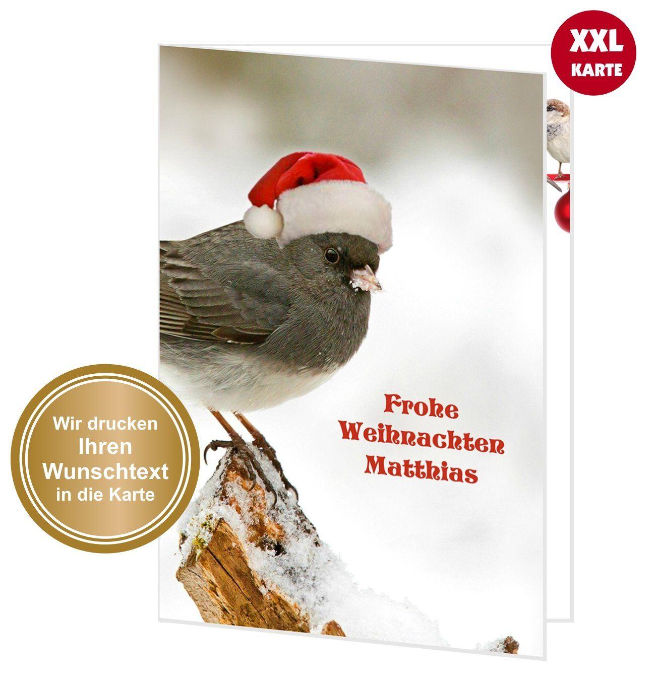 XXL Weihnachtskarte süßer Weihnachtsvogel  Weihnachtskarten