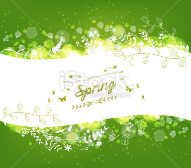 Spring Background with florals - Illustration
