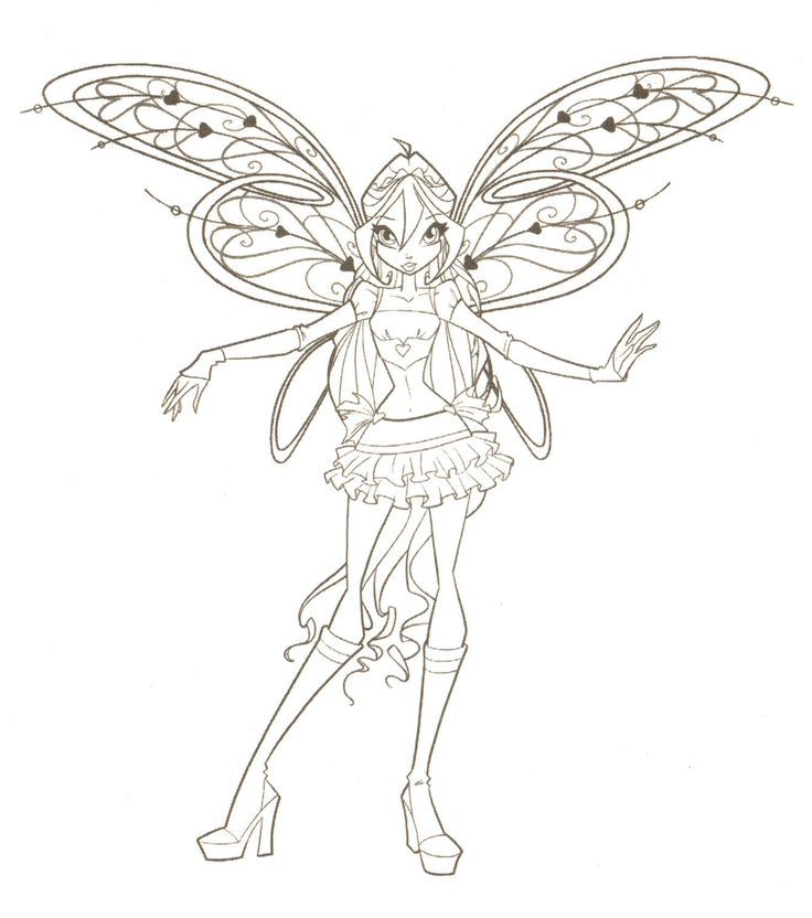 coloriage winx | Coloring | Pinterest | Winx club, Art clipart and ...