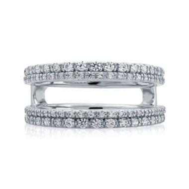 1 2 Ct T W Diamond 14k White Gold Double Row Ring Wrap Rings White Gold Wrap Rings