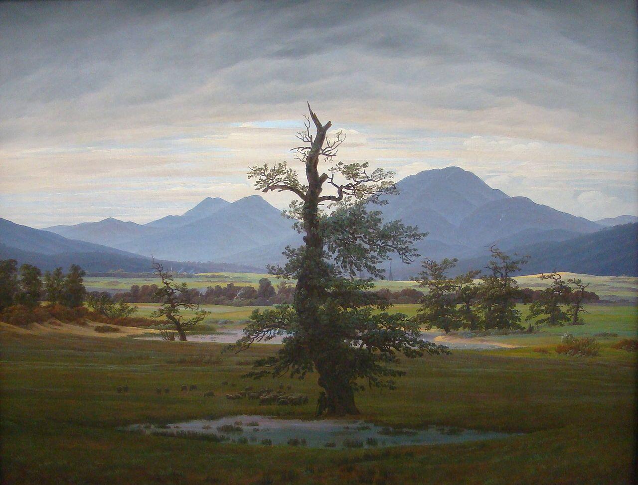 Dorflandschaft bei Morgenbeleuchtung (Caspar David Friedrich)