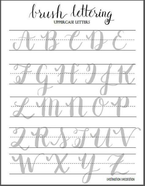 Free Brush Lettering Worksheet