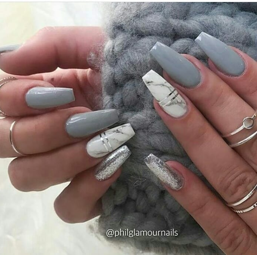 50 Stunning Matte Blue Nails Acrylic Design For Short Nail Latest Fashion Trends For Woman In 2020 Mauve Nails Marble Acrylic Nails Best Acrylic Nails