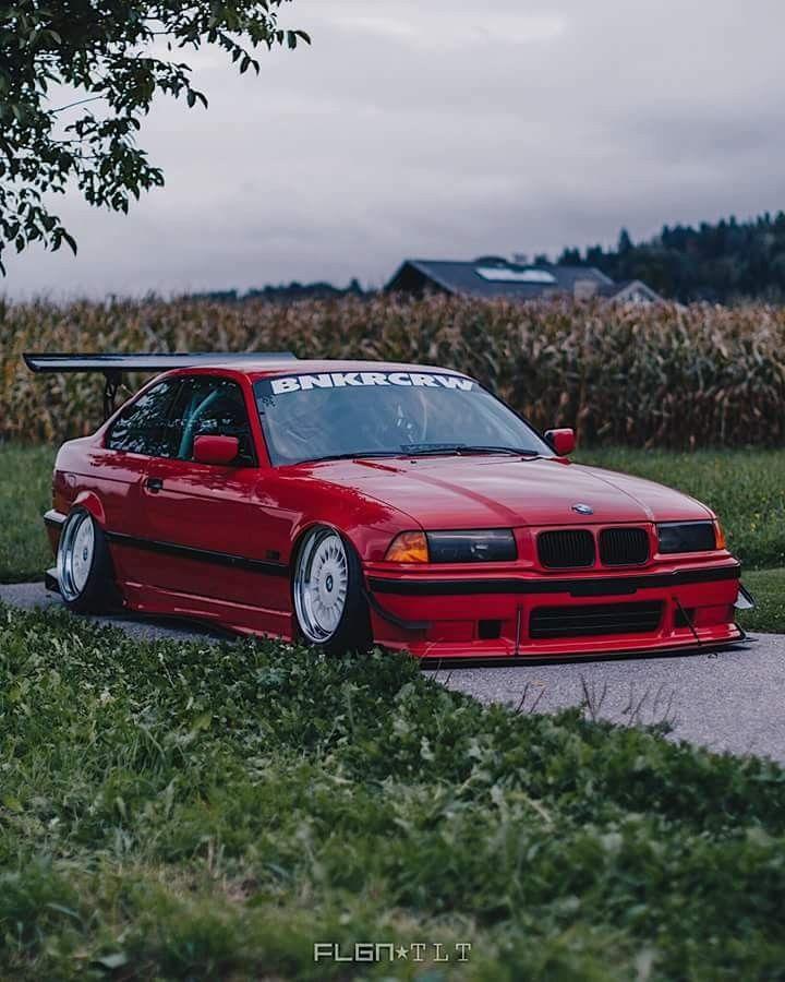 BMW E36 3 series red slammed wing | Bmw, Bmw e36, Dream cars