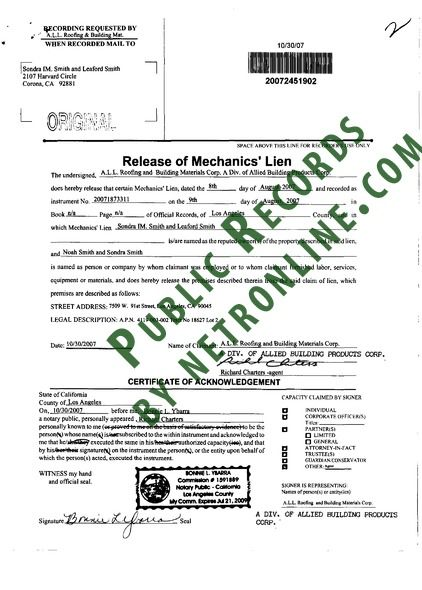 los angeles county deed of records
