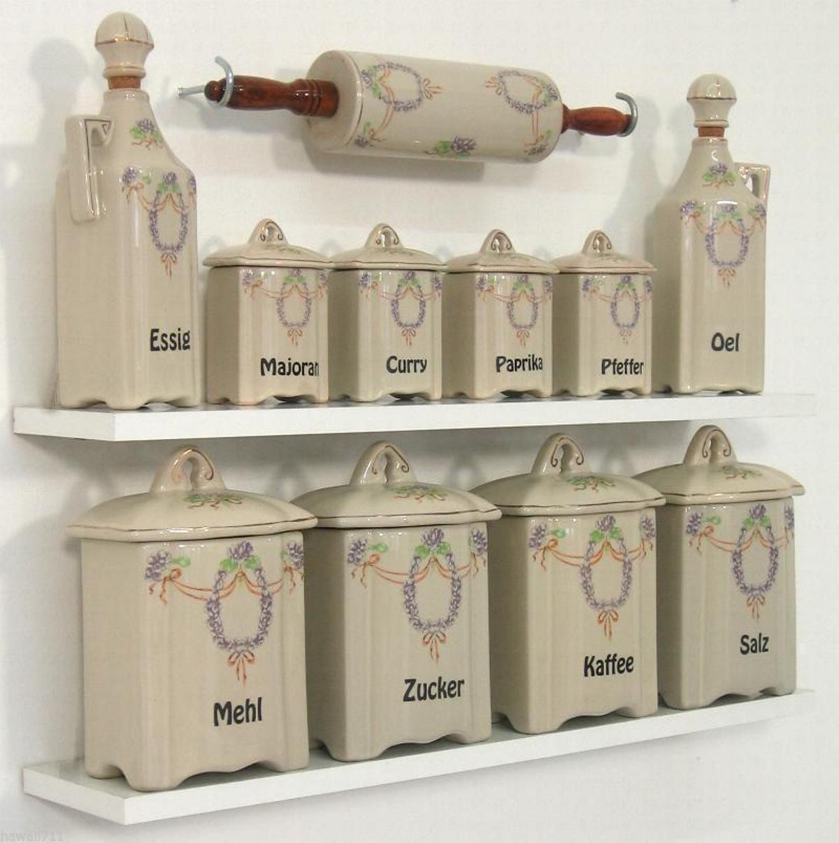 Gewürzregal Dosen Antik Vorratsdosen Küchendosen