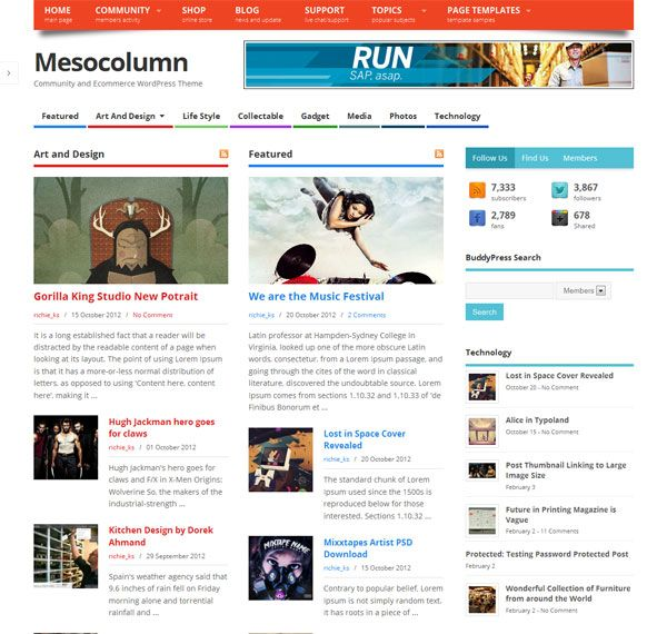 Mesocolumn - Beautiful free wordpress theme. | WordPress themes ...