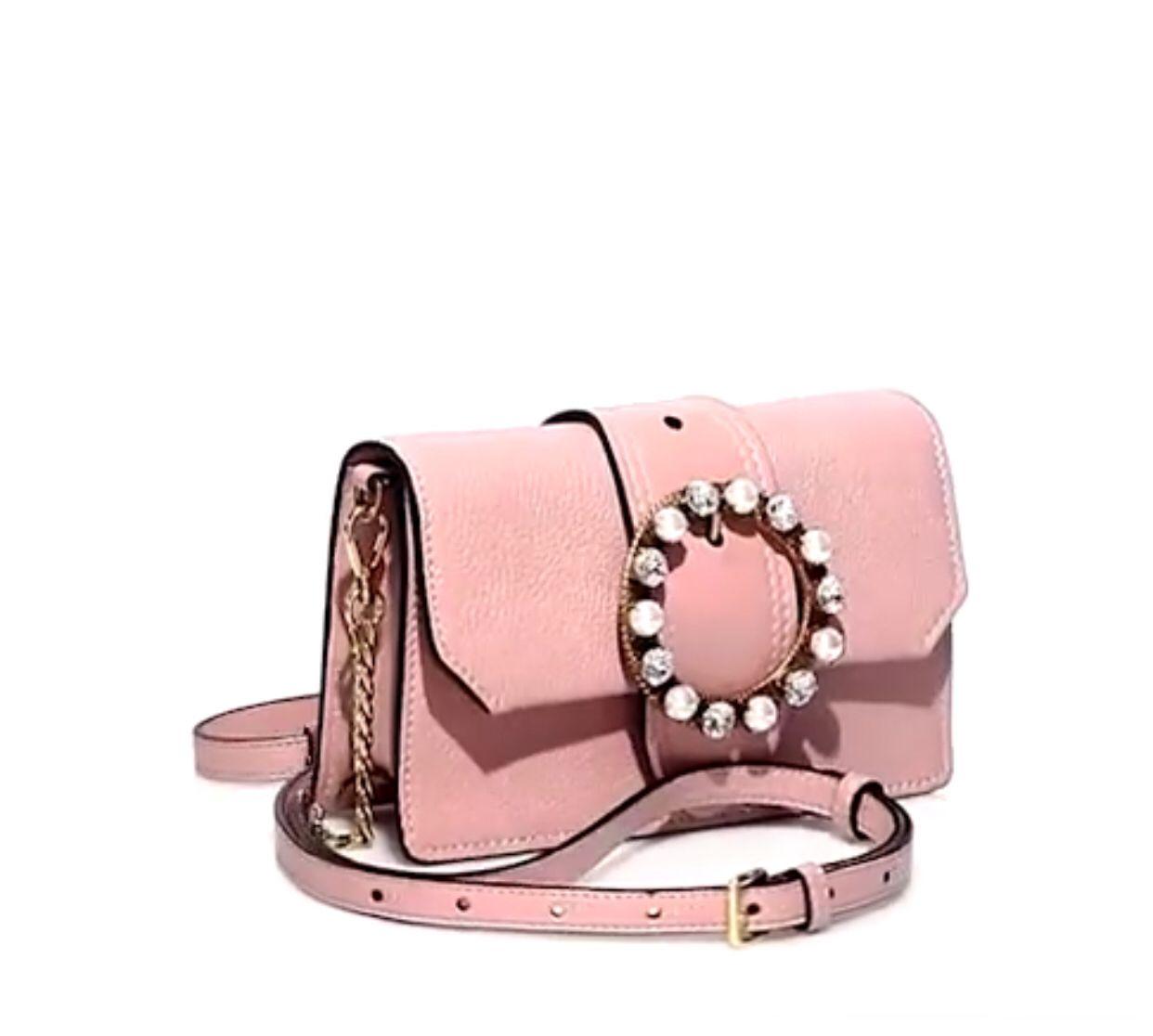 Miu Miu Jeweled Leather Crossbody Belt Bag in Orchidea  8b92b515f78d1