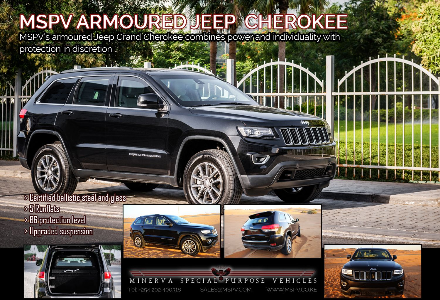 Armoured Jeep Grand Cherokee Mspv Armoured Vehicles Pinterest