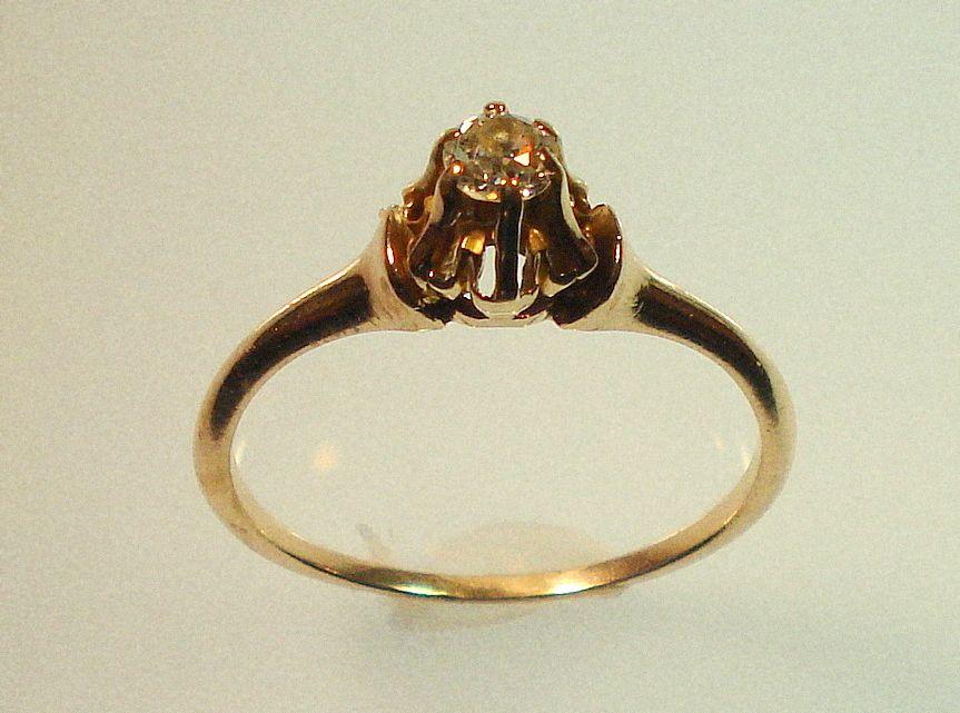 Unique Civil Wedding Rings With Sweet Civil War Era 1860 Diamond