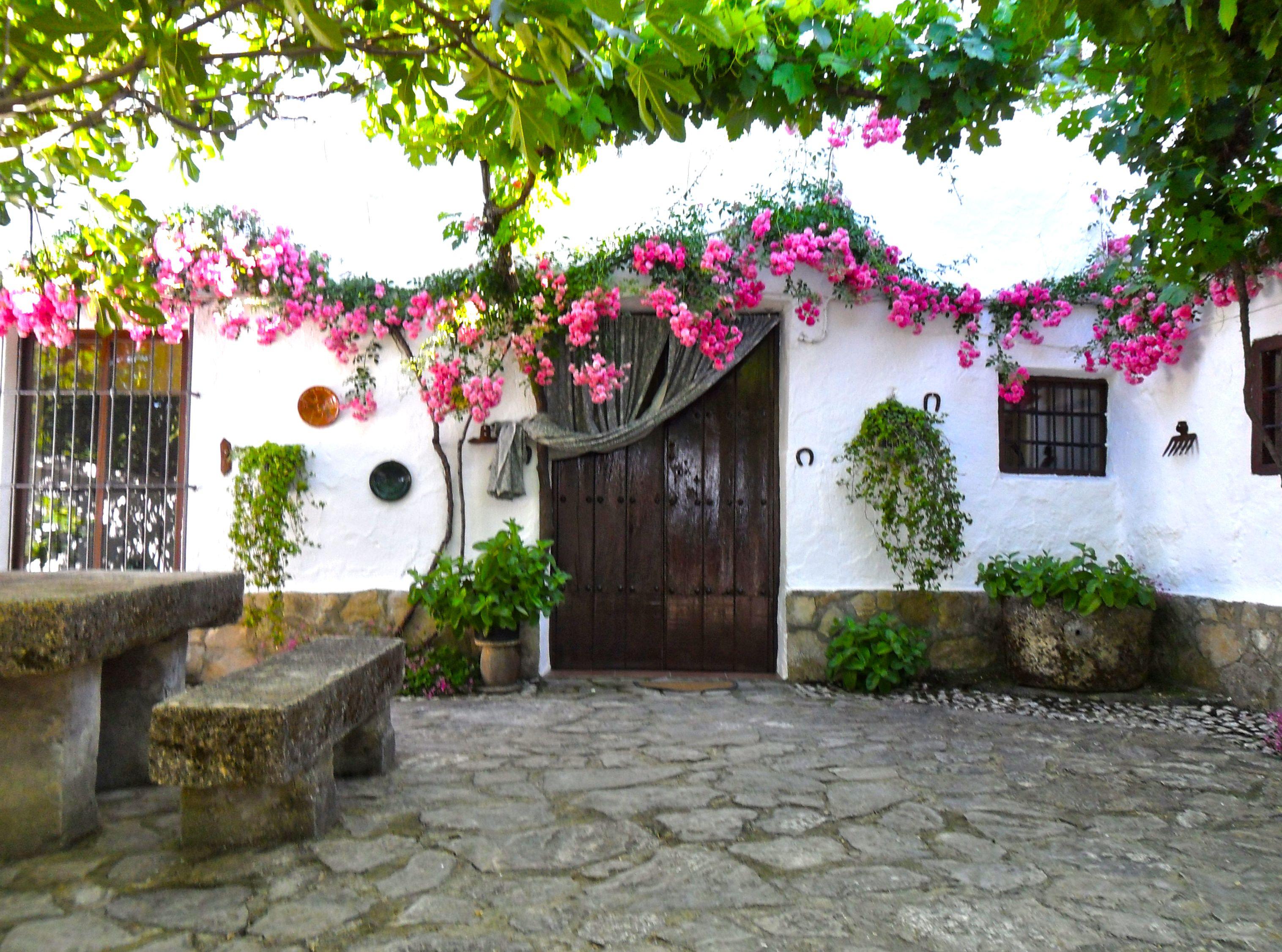 patio andaluz casa de piedra Casas de campo Casas