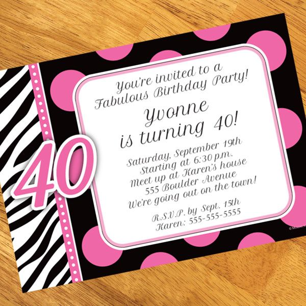 Awesome Th Birthday Party Invitations Templates  Free Printable
