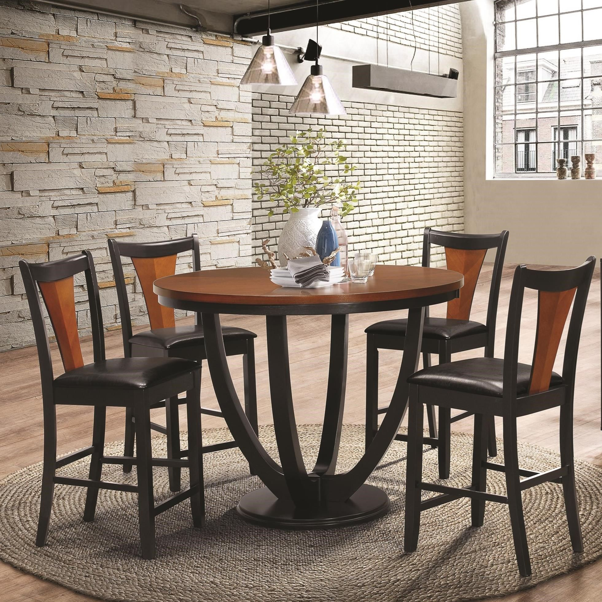 Boyer Contemporary 5 Piece Counter Height Table and Chair Set by Coaster