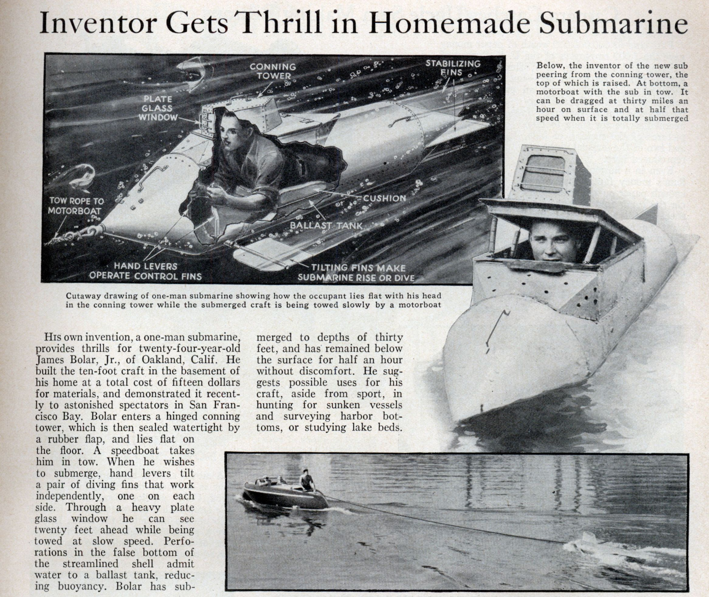 Homemade Personal Submarine Related Keywords & Suggestions ...