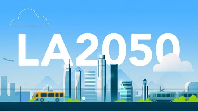 What Will Los Angeles Look Like In The Year 2050 By Participating In Programs For Education Civic Motion Design Animation Motion Design Video Futuristic City