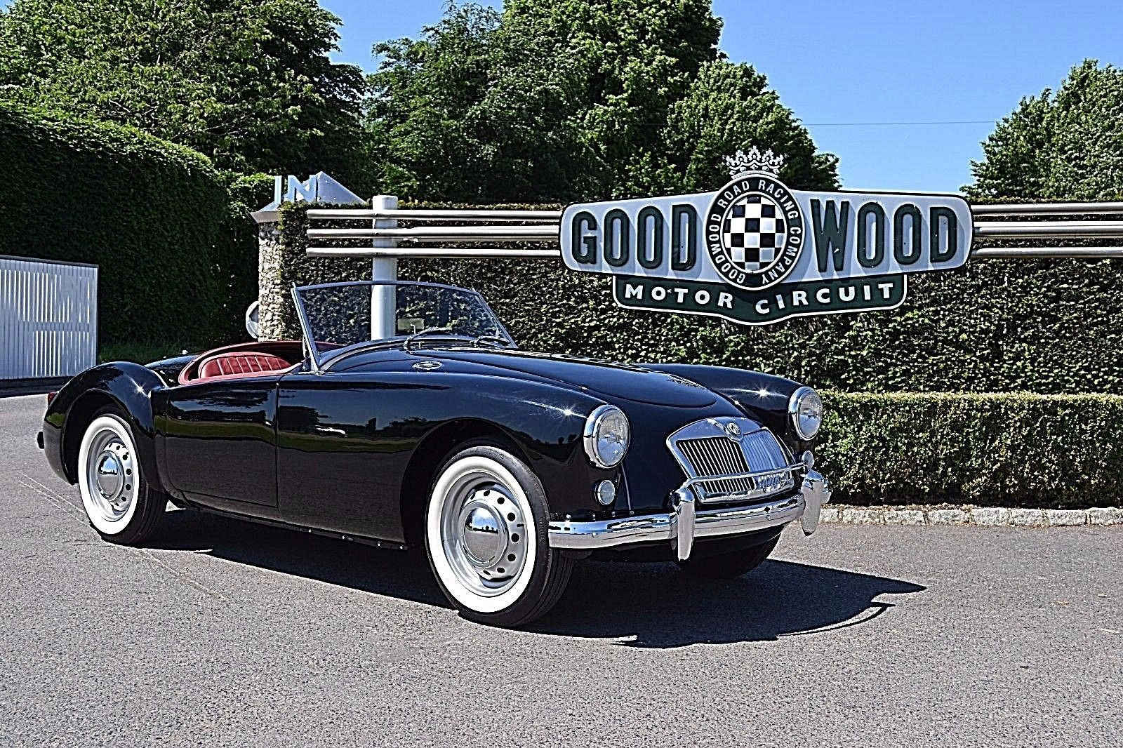 eBay 1956 mga roadster black with red interior fully