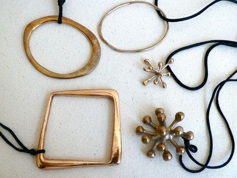 Monica Castiglioni Bracelets and Pendants.