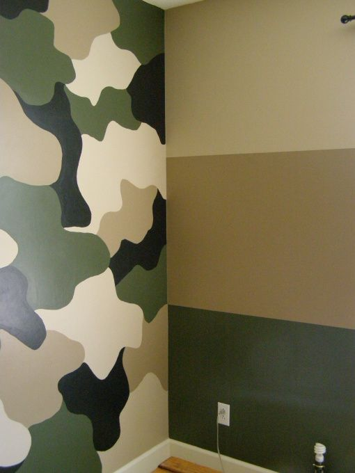 Jerods camo room my 7 year old wanted a new room his for Boys camouflage bedroom ideas