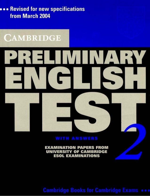 Cambridge preliminary english test 2 [book]   ESL Exams ...