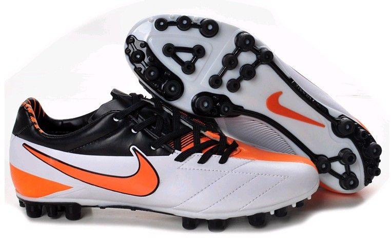 f6111d18cfc7 Nike Total 90 Laser IV AG Mens Artificial Grass Soccer Cleats(White Total  Orange Black)