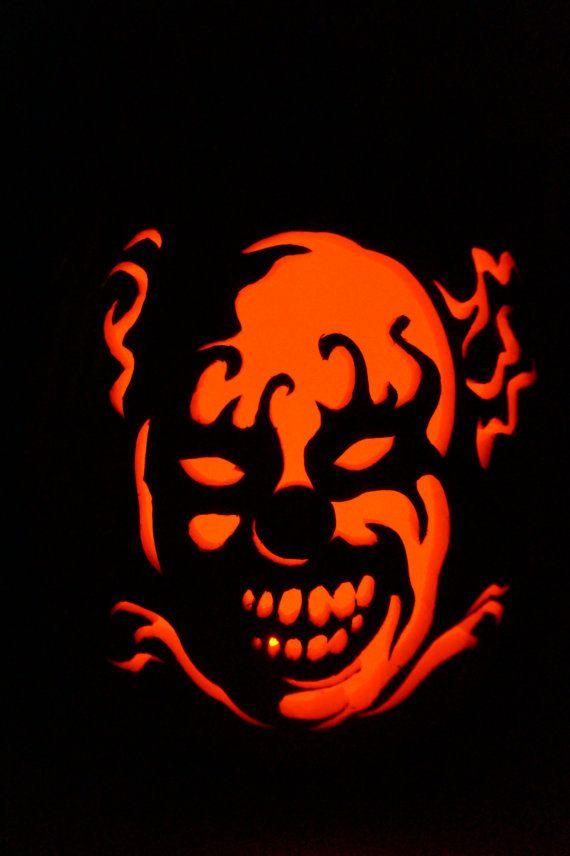 pumpkin template it clown  Evil Clown 5 Foam pumpkin w/ battery by ...