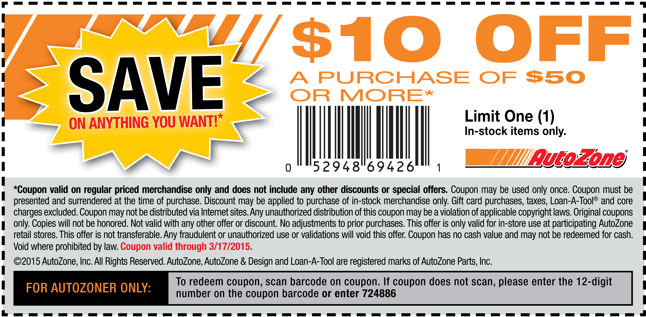 Autozone Coupons 10 Off 50 At Autozone Free Coupons By Mail Coupon Apps Printable Coupons
