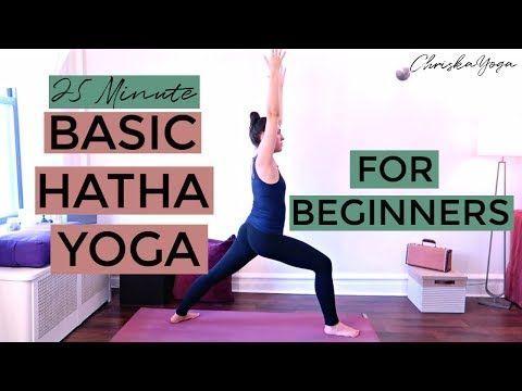25 min basic hatha yoga for beginners  beginners yoga