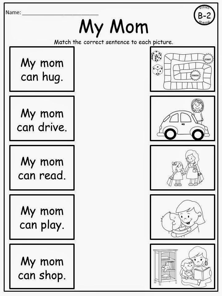 Free: Mother's Day Sentence Matching....Themed Leveled