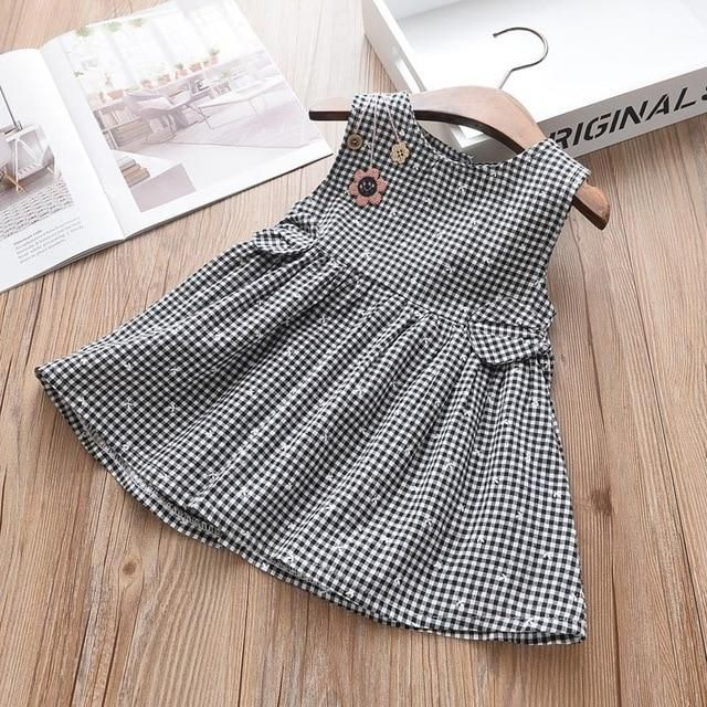 15f225366af7 Melario Girl Dress 2019 New Baby Dresses Pattern Print Birthday Dress  Female Plaid Stripe Baby Summer Clothes Kids Girl Clothes