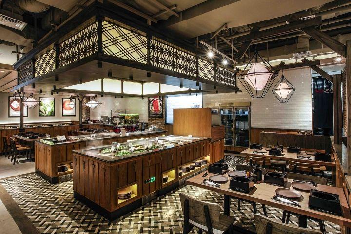 shaburi restaurant by metaphor interior at grand indonesia jakarta indonesia retail design blog - Commercial Interior Design Blog