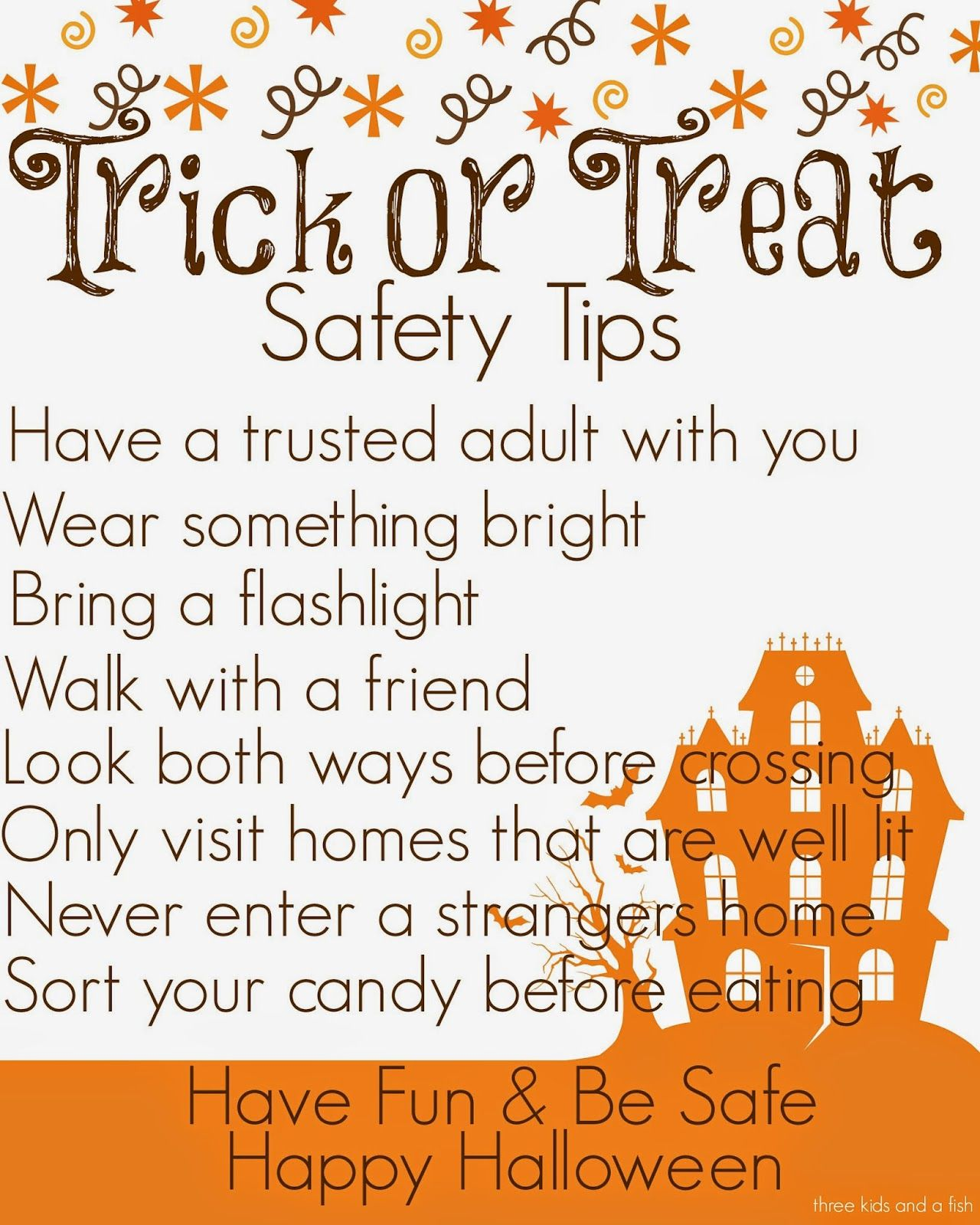 Trick or Treat Safety Tips Halloween safety tips