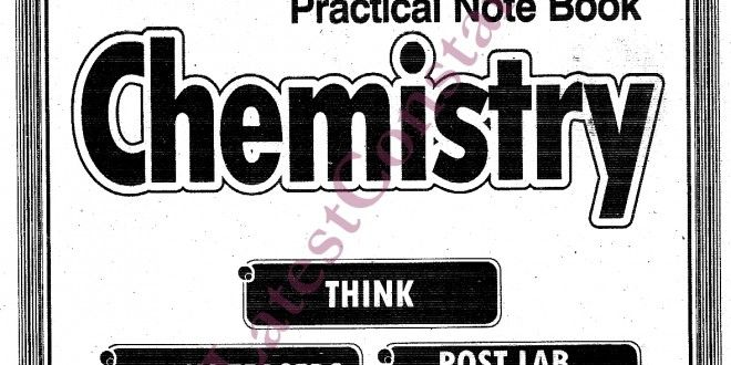 Solved Practical Notebook Chemistry 9th & 10th Class New