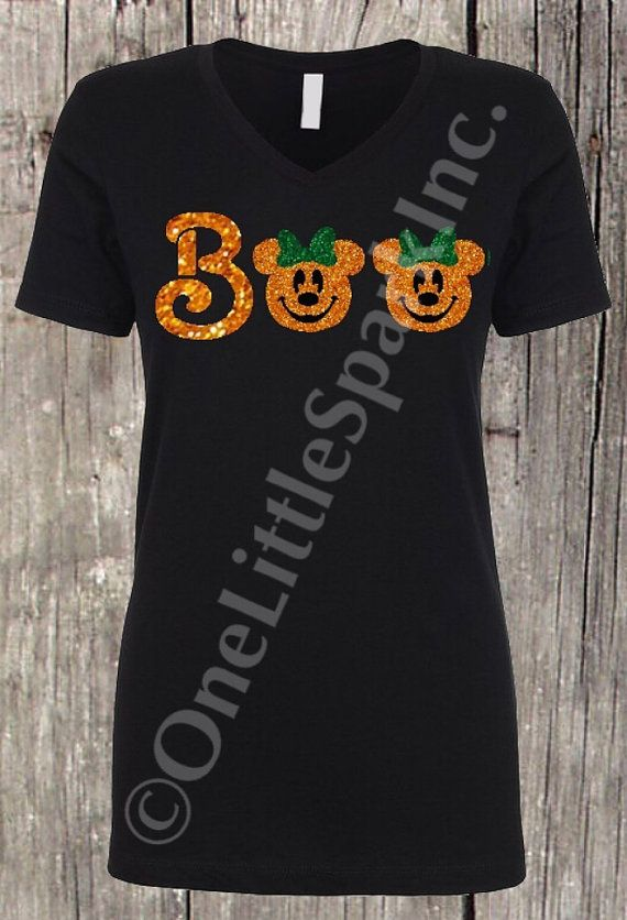 mickey pumpkin shirt halloween shirt boo minnie pumpkin boo to you family matching halloween not so scary party disney disneyland halloween trip