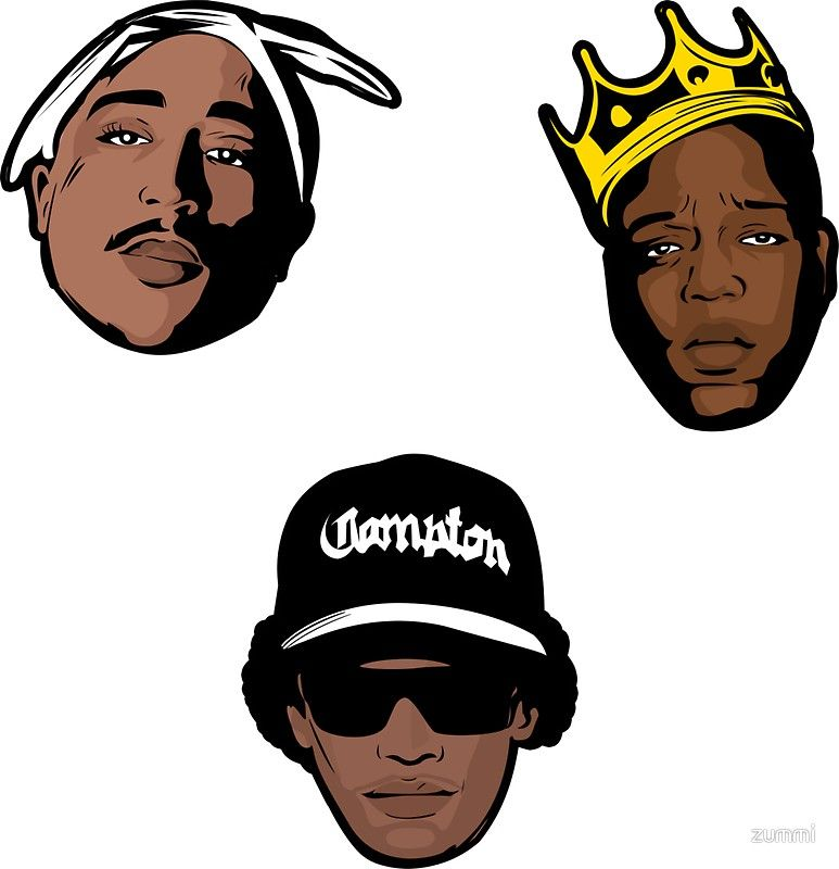 The Notorious B I G 2pac And Eazy E In Pop Art Legends Never Die Sticker Pack Of