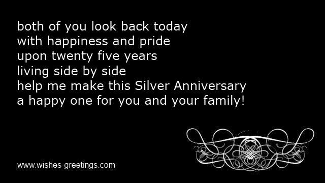 Funny 25th wedding anniversary greetings