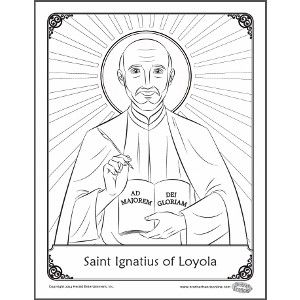 St. Ignatius - coloring page. Free Printable